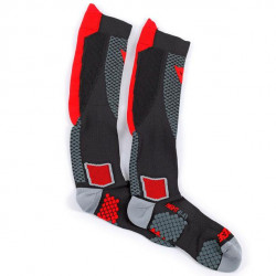 DAINESE D-CORE HIGH SOCK-606-BLACK/RED