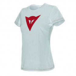 DAINESE SPEED DEMON LADY T-SHIRT-602-WHITE/RED