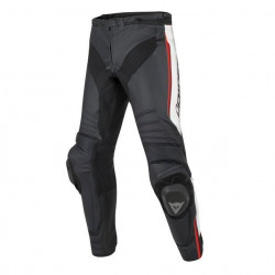 DAINESE MISANO LEATHER PANTS-N32-BLACK/WHITE/RED-FLUO