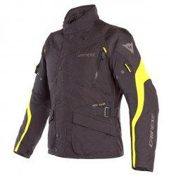 DAINESE TEMPEST 2 D-DRY JACKET-N49-BLACK/BLACK/FLUO-YELLOW