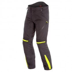 DAINESE TEMPEST 2 D-DRY PANTS-N49-BLACK/BLACK/FLUO-YELLOW