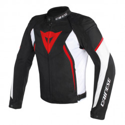 DAINESE AVRO D2 TEX JACKET-858-BLACK/WHITE/RED