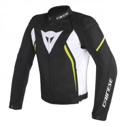 DAINESE AVRO D2 TEX JACKET-Q90-BLACK/WHITE/YELLOW-FLUO