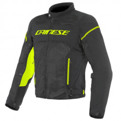 DAINESE AIR FRAME D1 TEX JACKET-N49-BLACK/BLACK/YELLOW-FLUO