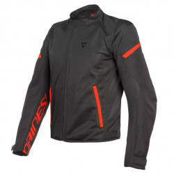 DAINESE BORA AIR TEX JACKET-628-BLACK/FLUO-RED