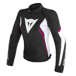DAINESE AVRO D2 TEX LADY JACKET-T76-BLACK/WHITE/FUXIA
