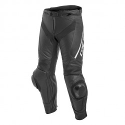 DELTA 3 PERF. LEATHER PANTS-948-BLACK/BLACK/WHITE Dainese