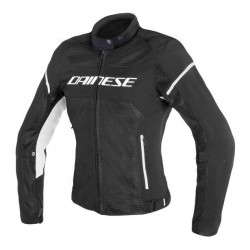 AIR FRAME D1 LADY TEX JACKET-948-BLACK/BLACK/WHITE Dainese
