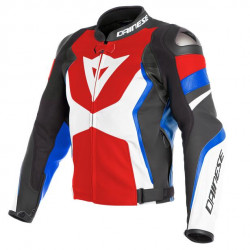 AVRO 4 LEATHER JACKET-21A-LAVA-RED/WHITE/AZZURRO-S Dainese