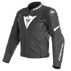 AVRO 4 LEATHER JACKET-22A-BLACK-MATT/BLACK-MATT/WHITE...