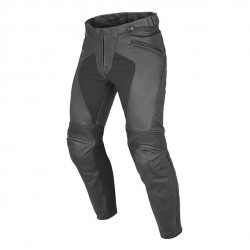 PONY C2 PERF. LEATHER PANTS BLACK Dainese