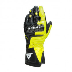 CARBON 3 LONG GLOVES-P86-BLACK/FLUO-YELLOW/WHITE | DAINESE
