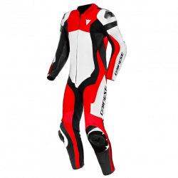 ASSEN 2 TUTA MOTO IN PELLE A60-WHITE/LAVA-RED/BLACK |...