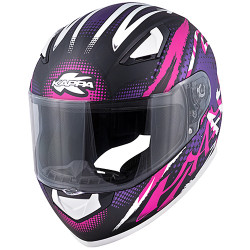CASCO INTEGRALE KV38 HOUSTON NERO OPACO  FUCSIA KAPPA