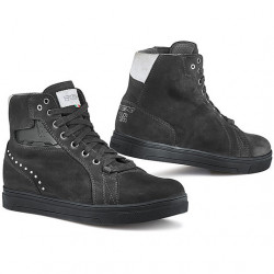 SCARPE MOTO DA DONNA STREET DARK LADY WATERPROOF BLACK | TCX
